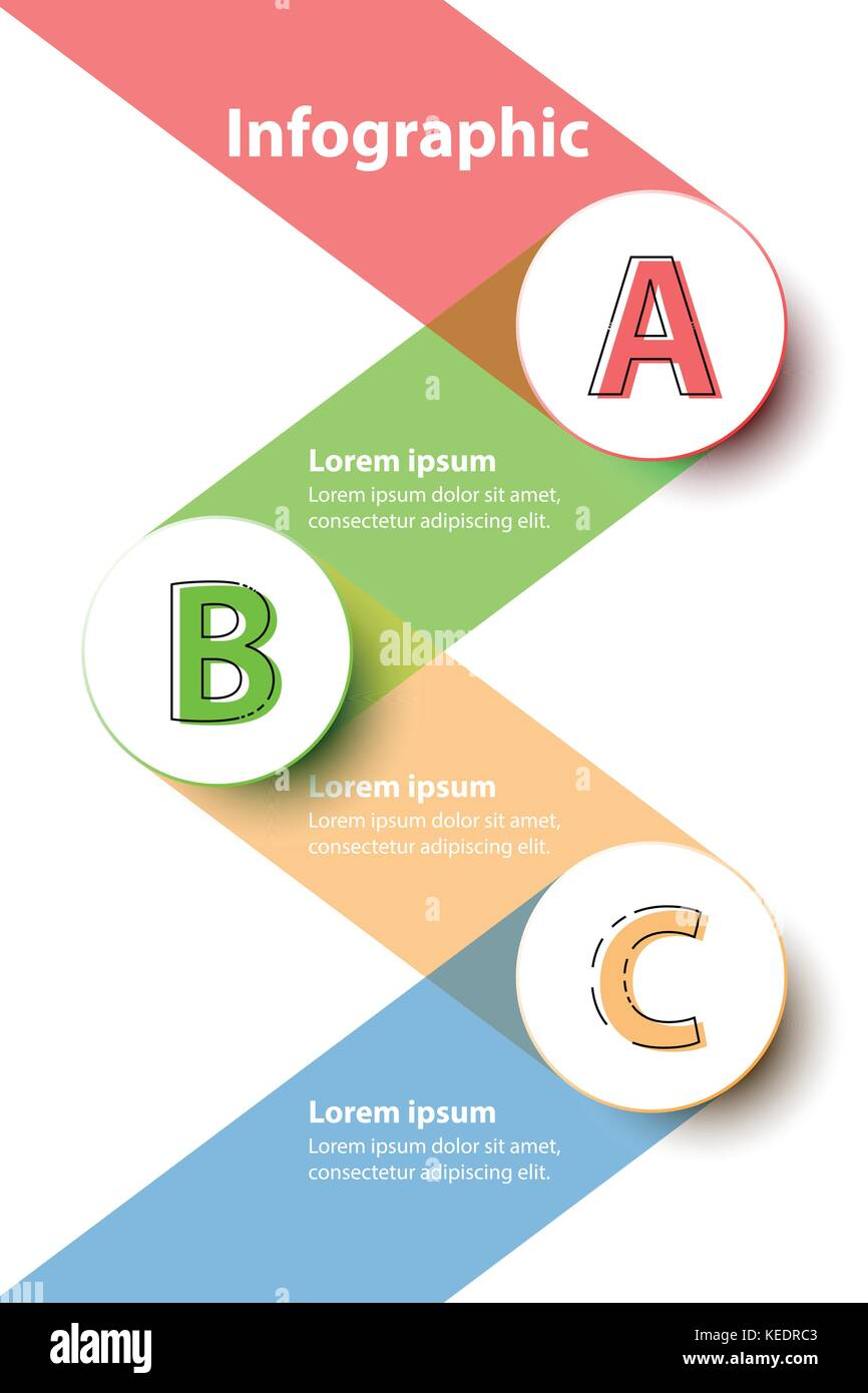 Sujets trois cercles colorés 3d avec bandes sur arrière-plan de site internet présentation couvrir poster vector Illustration de Vecteur