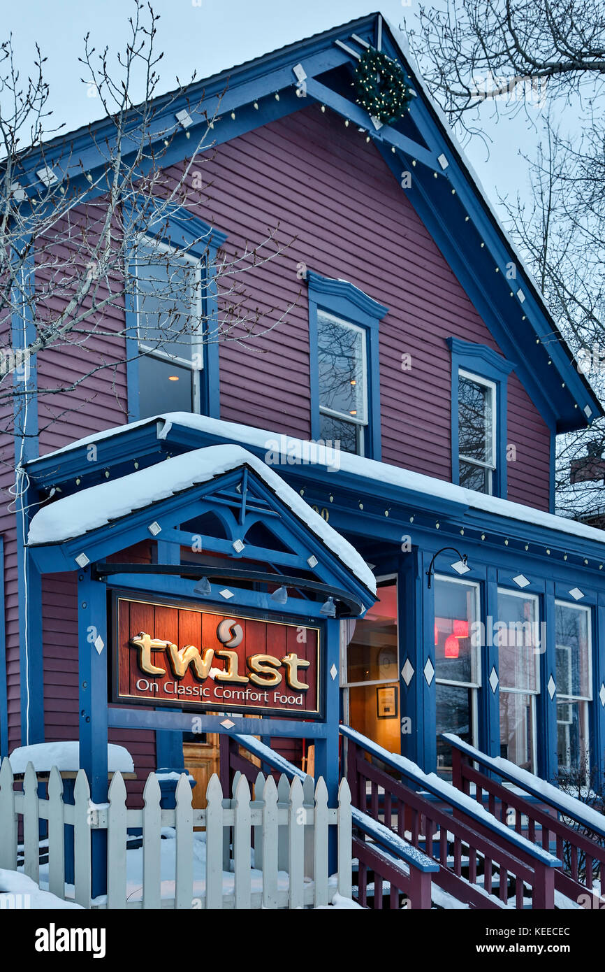 Restaurant twist, Breckenridge, Colorado usa Photo Stock
