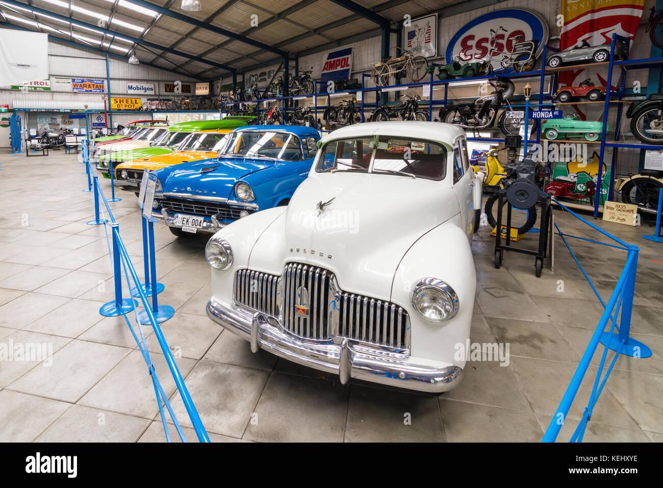 Voitures holden australienne montre au musée de l'automobile de wa, whiteman park dans la Swan Valley, Photo Stock