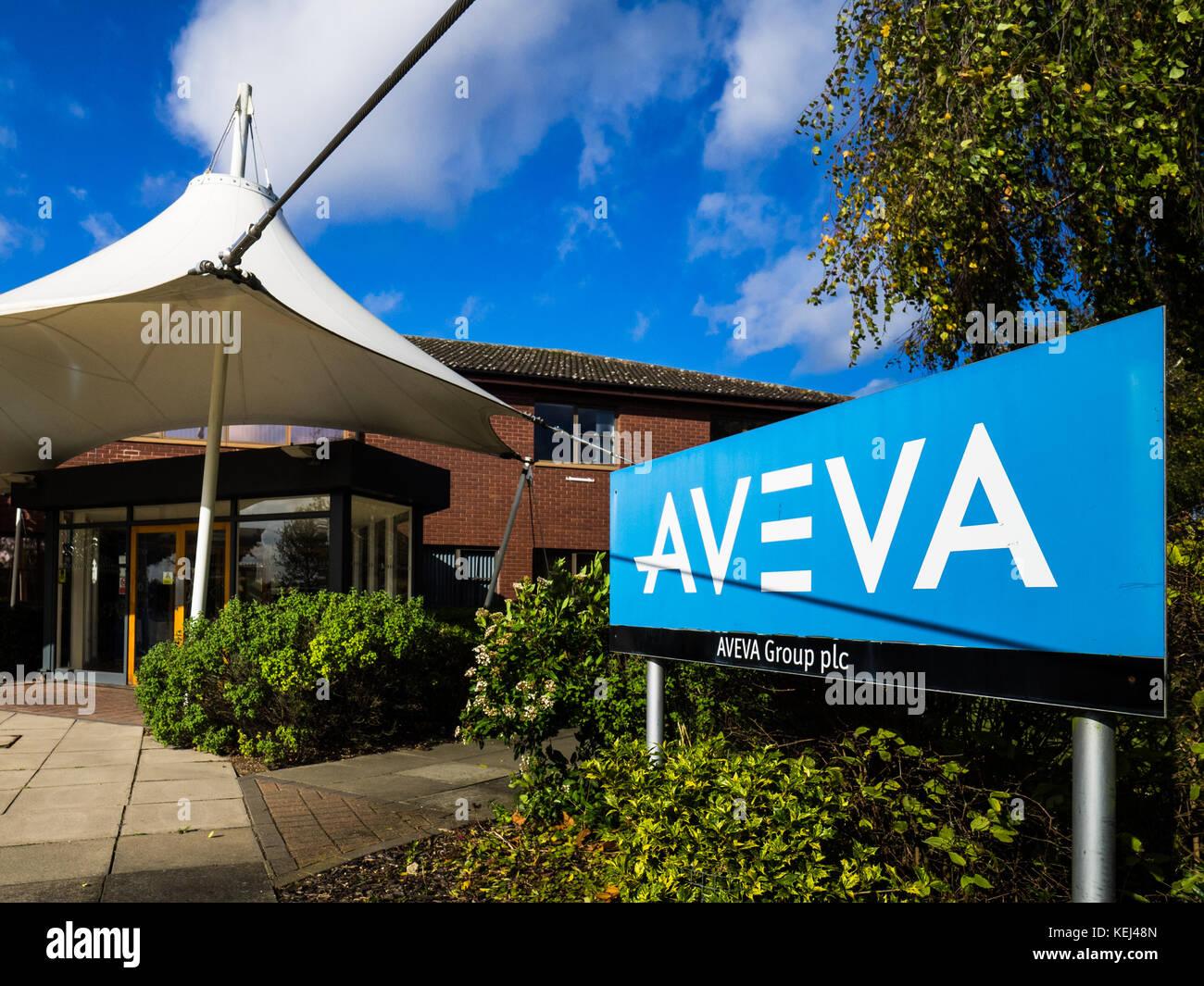Aveva des bureaux à Cambridge, UK - Aveva est un génie, conception et gestion de l'information aux Photo Stock