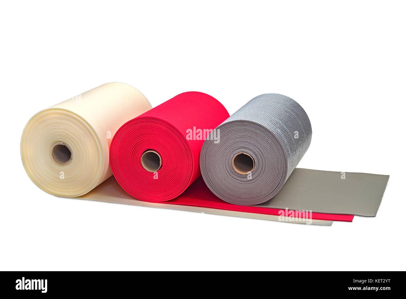 Rouleaux de Polyéthylène multi couleur mousse antichoc type de produit multi Banque D'Images