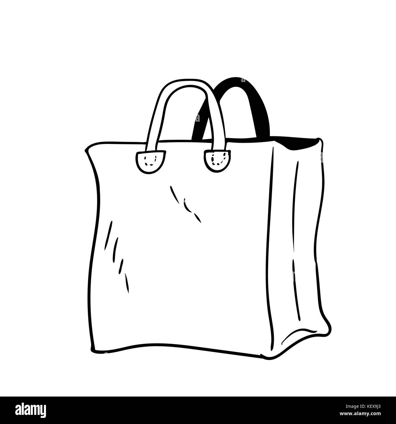 Illustration de la main sac style dessin anim des sacs design vector illustration vecteurs - Dessin de la main ...