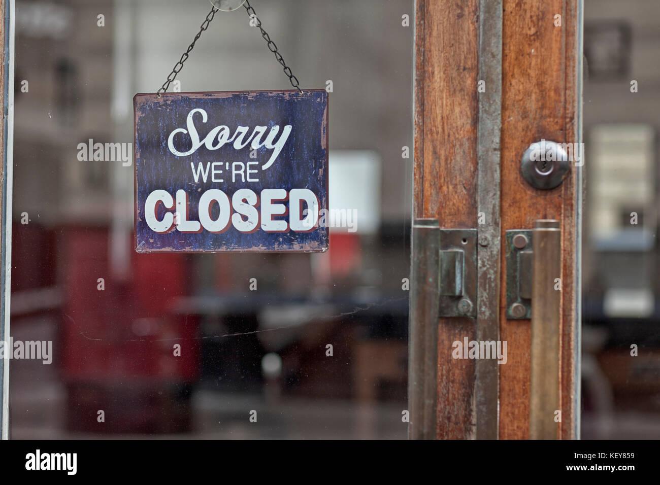 Désolés nous sommes fermés Photo Stock