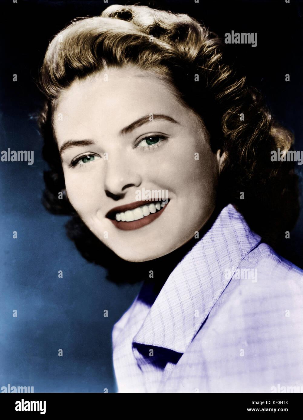 Ingrid Bergman - star du cinéma suédois. 29 août 1915 - 29 août 1982. Publicité photo. Banque D'Images