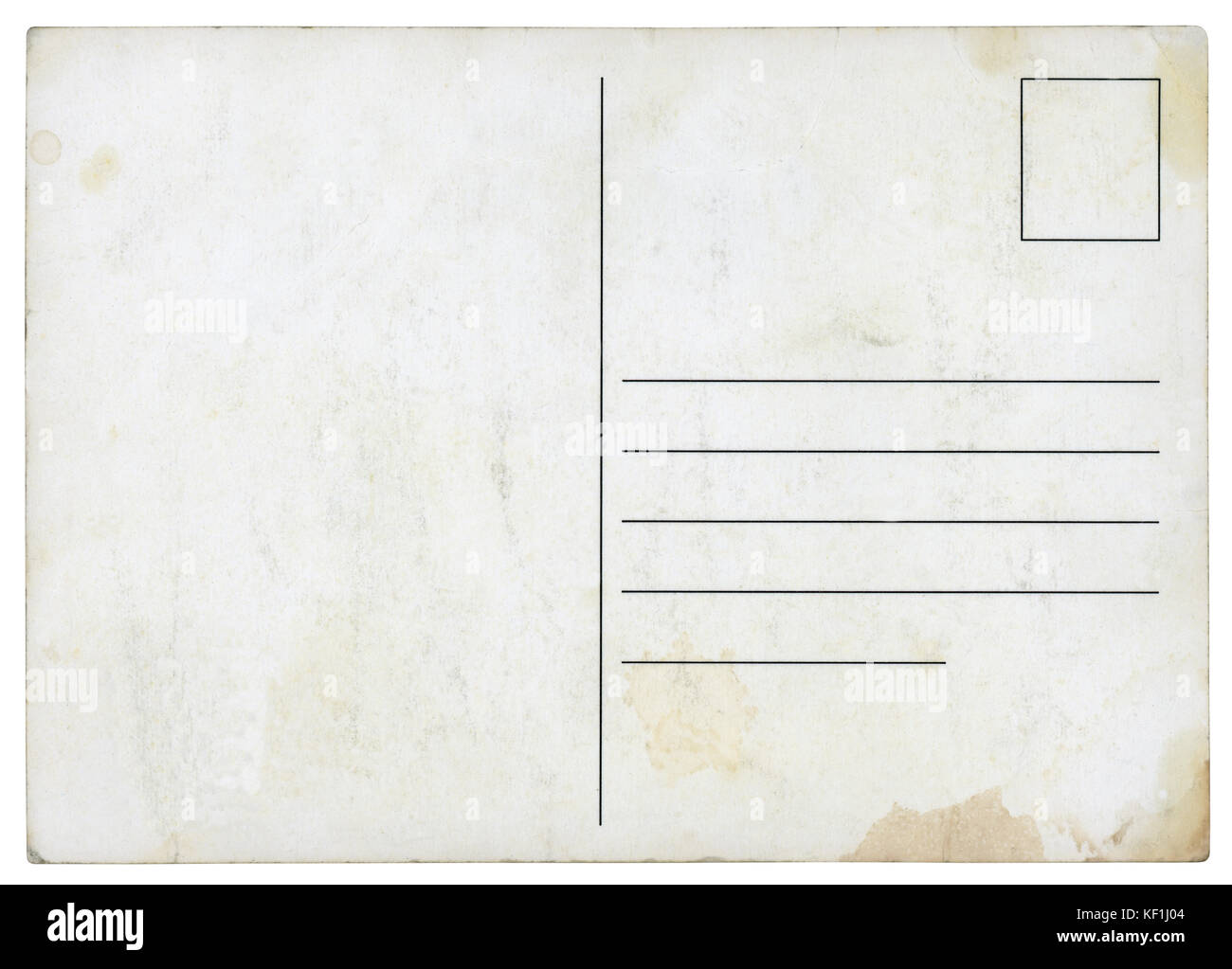 Carte postale ancienne - isolé (chemin inclus) Photo Stock