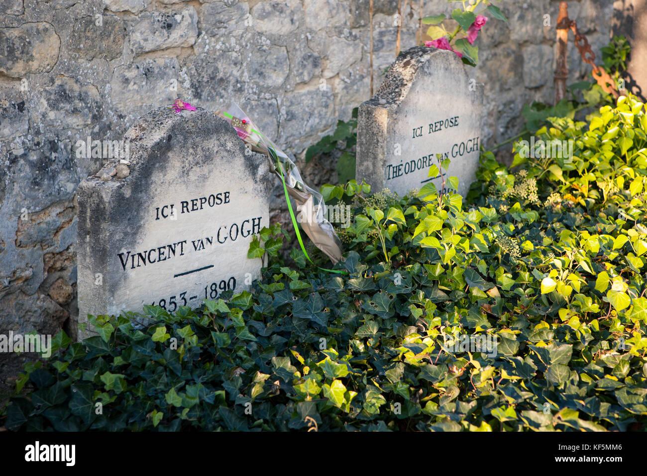 Vincent van Gogh tombe au cimetière du village