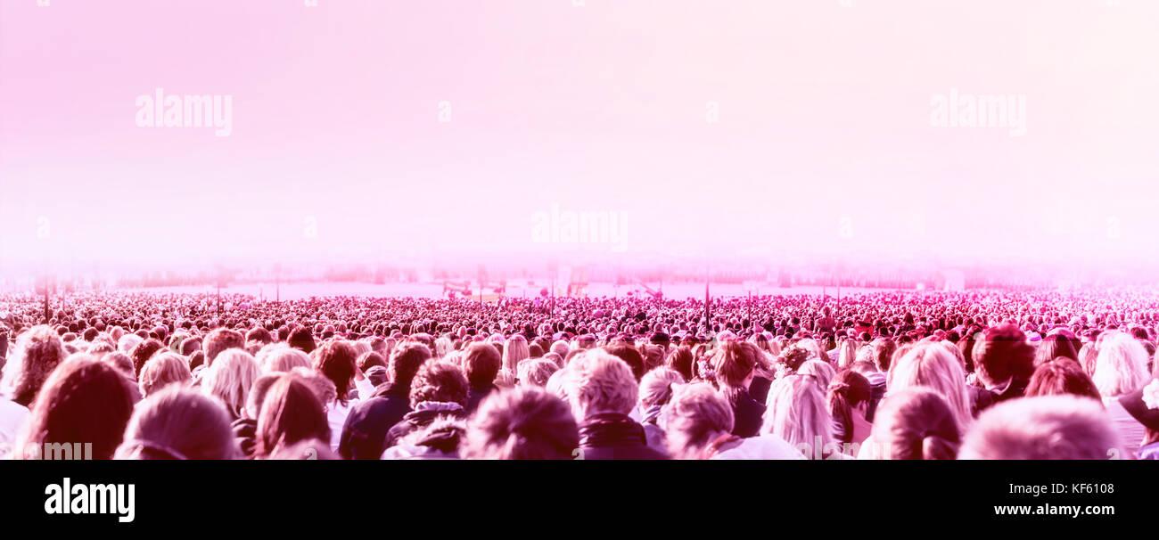 Grande foule de personnes Photo Stock