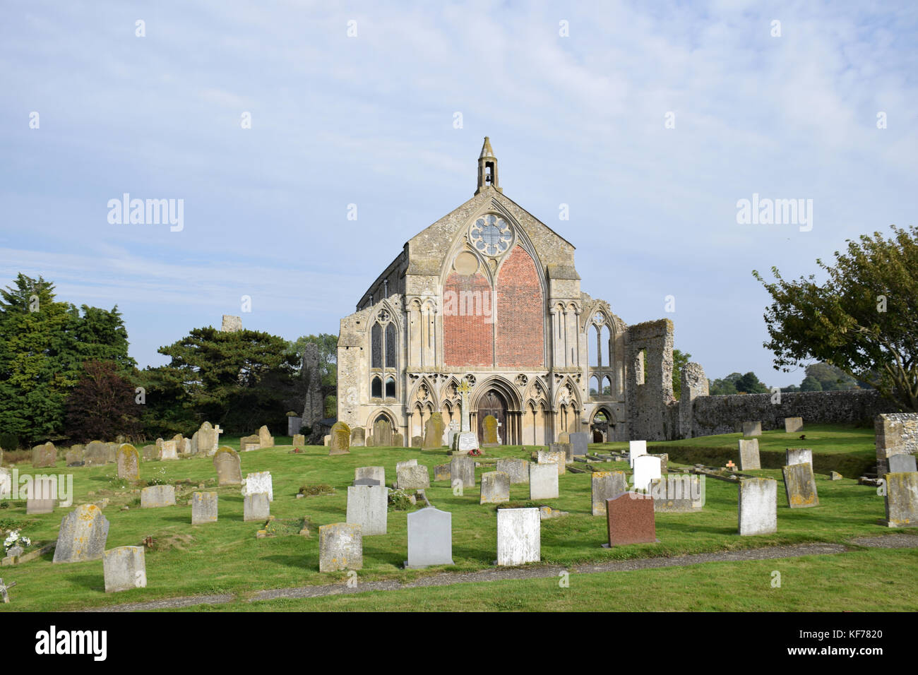 Prieuré Binham, Norfolk, ruiné prieuré bénédictin Photo Stock