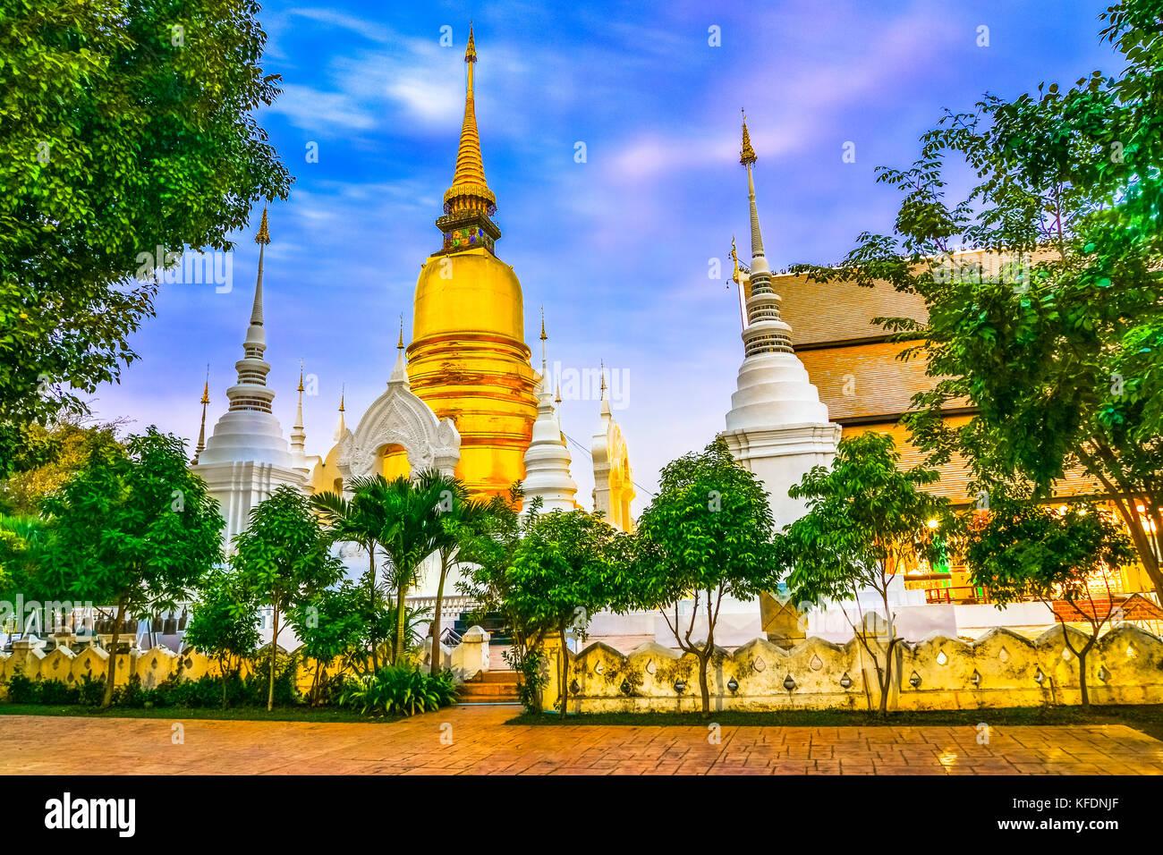 Wat Suan Dok, un temple bouddhiste, Wat Chiang Mai, dans le nord de la Thaïlande. C'est un temple royal Photo Stock
