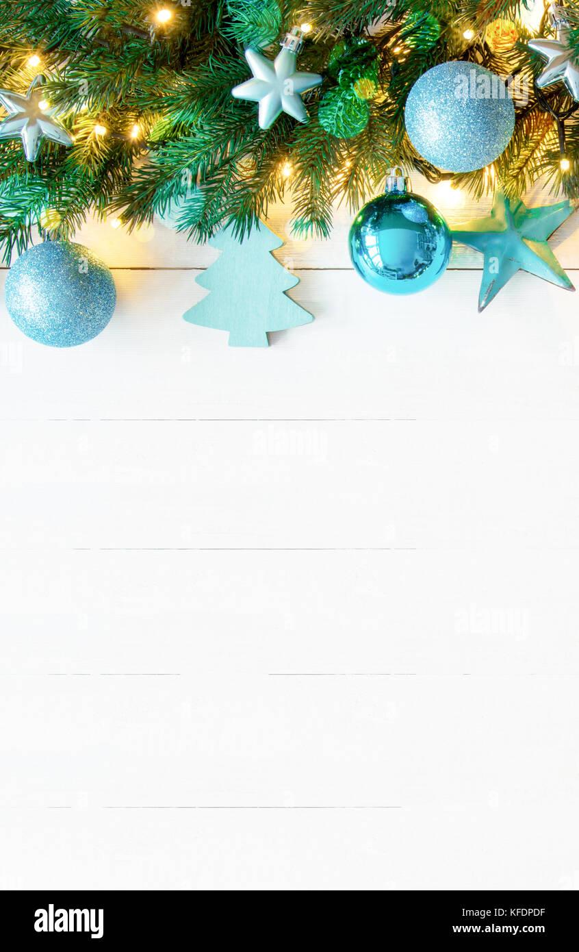 Fond De Bois Blanc Vertical Avec Copie Espace Noël Bannière Avec