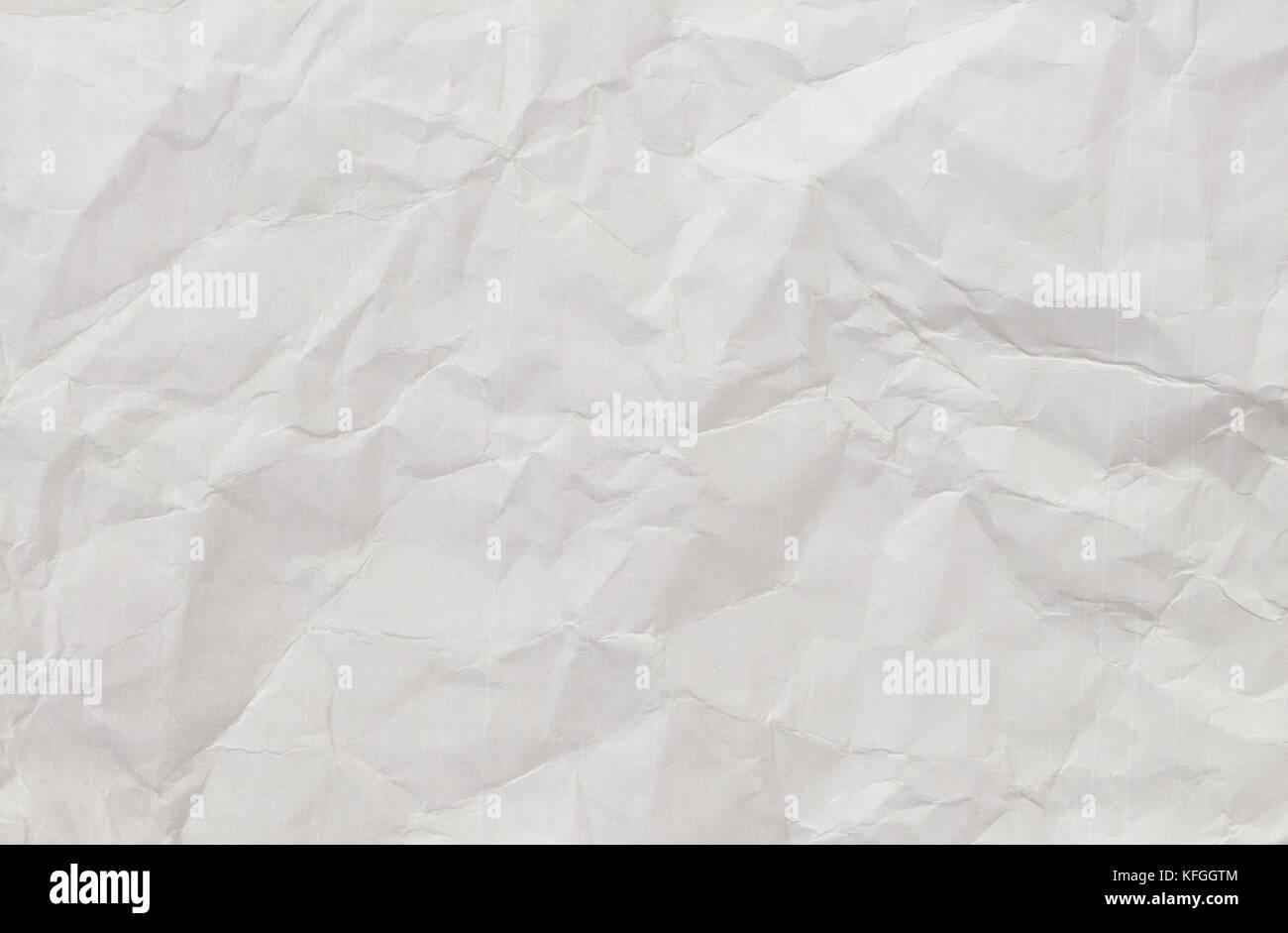 Papier blanc froissé l'arrière-plan. Photo Stock