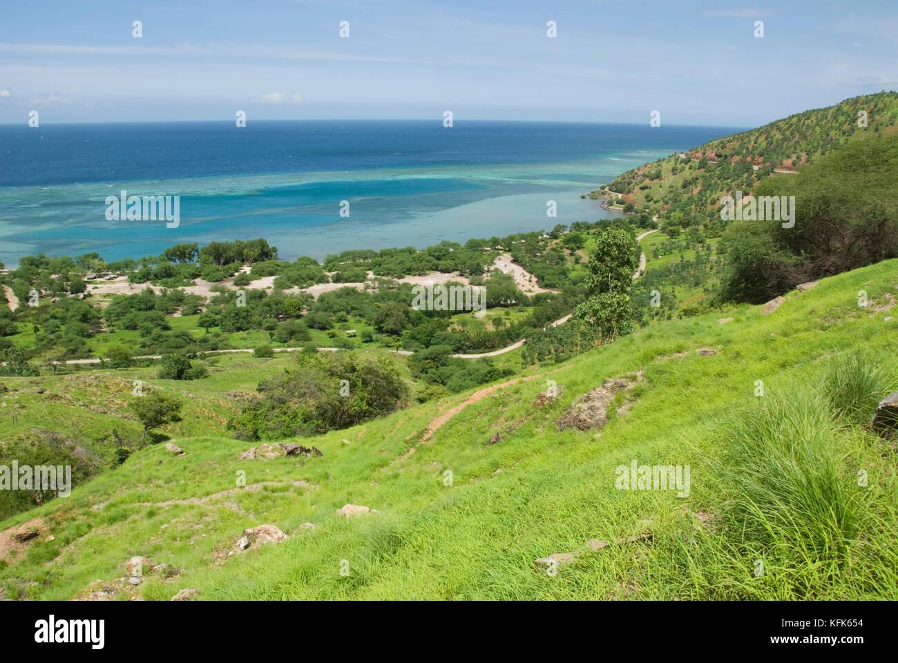 Côte nord de Timor-Leste (Timor oriental), à l'est de Dili Banque D'Images