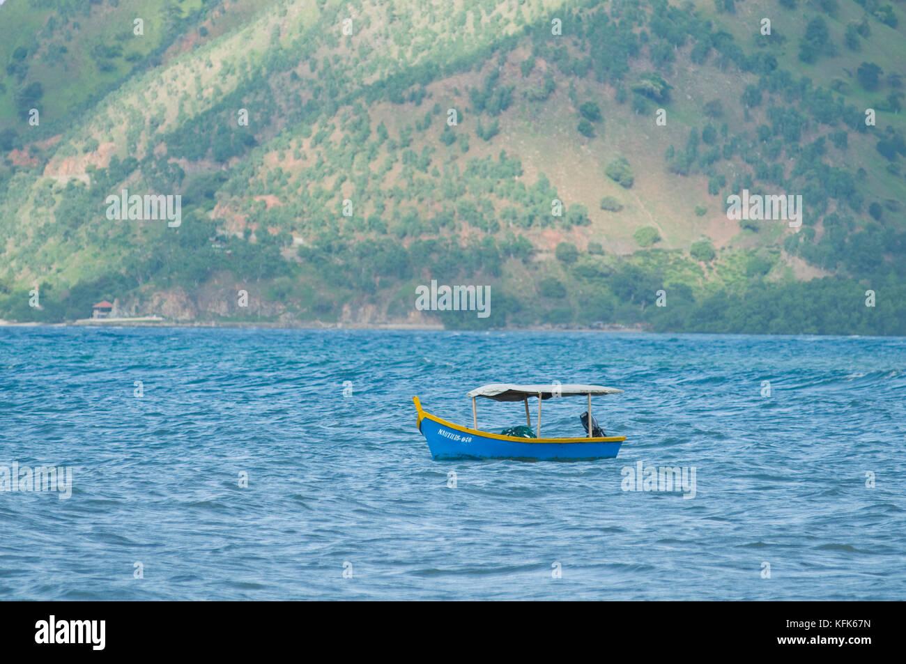 Bateau de pêche à Dili, Timor-Leste (Timor oriental) Banque D'Images