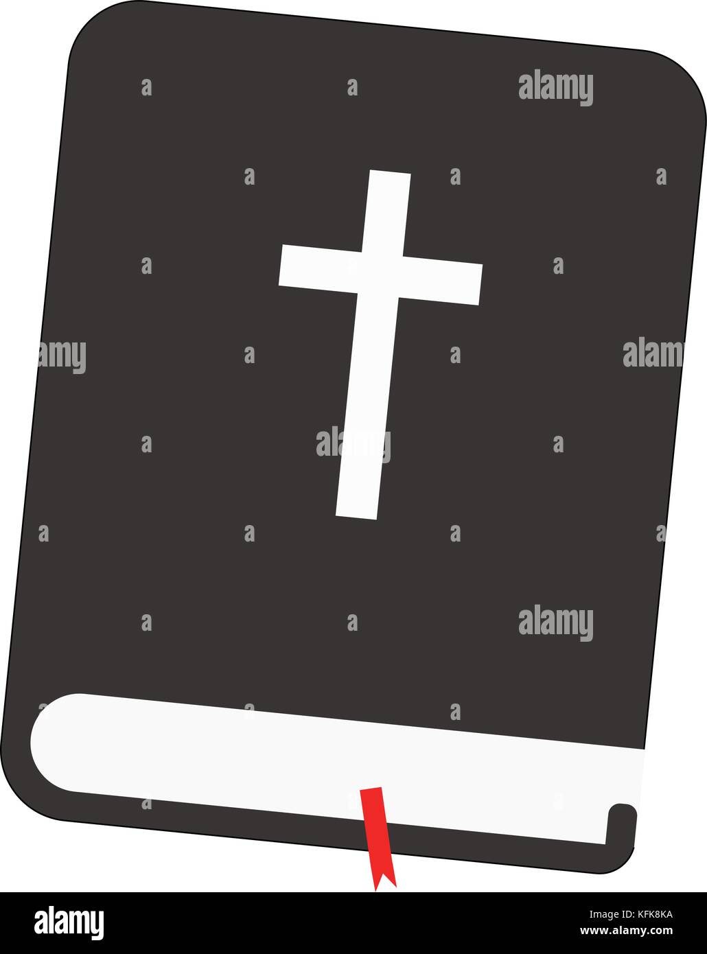 La sainte bible avec tag rouge Illustration de Vecteur