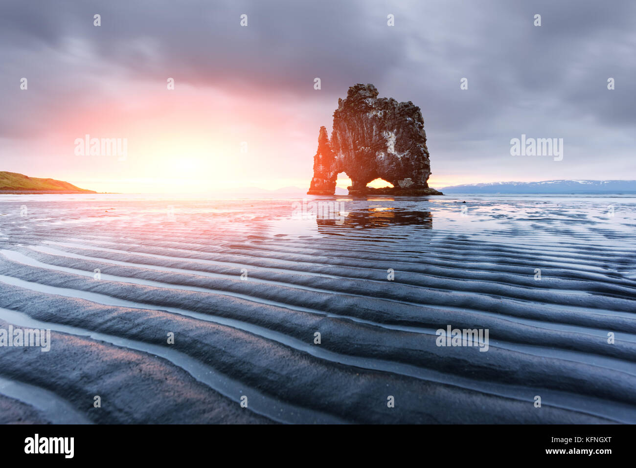 Bloc de basalte Hvitserkur Photo Stock