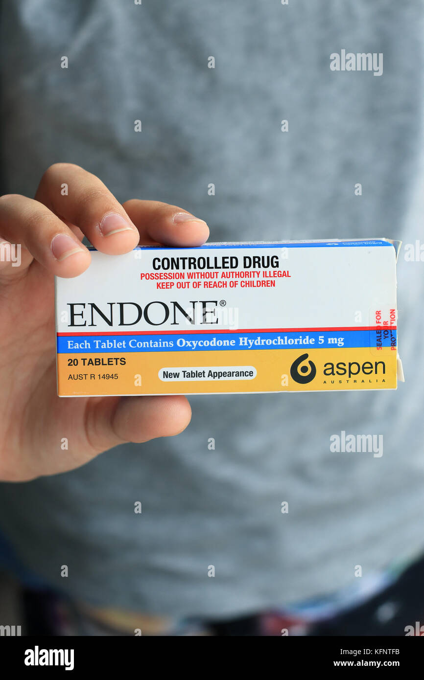 Endone painkiller Prescription - strong pain killer Photo Stock