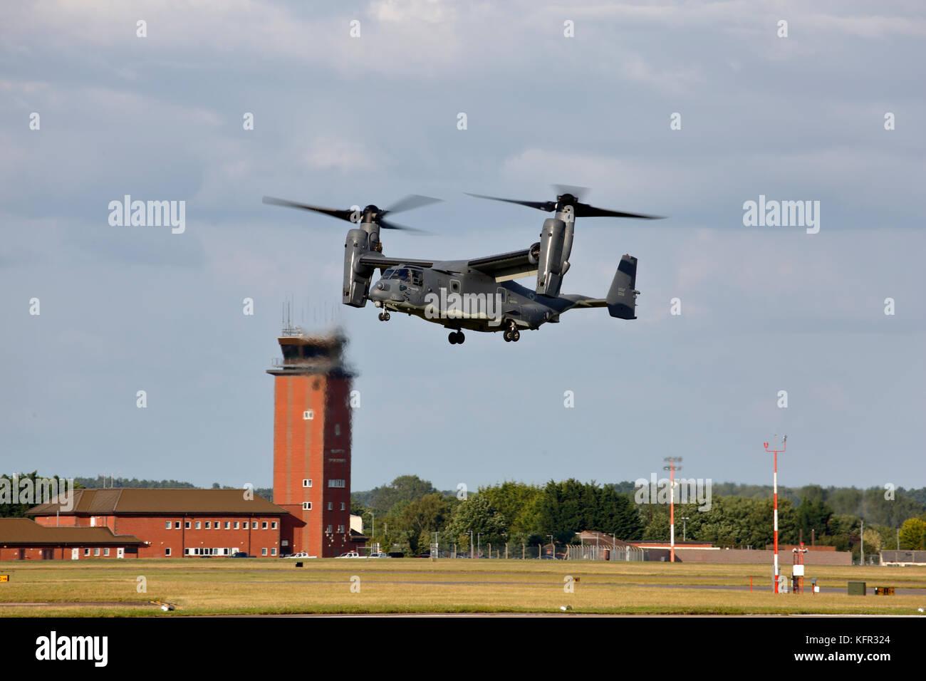 Bell Boeing annonce-22B Osprey du 7e Escadron d'opérations spéciales de la RAF basé à Suffolk, Photo Stock