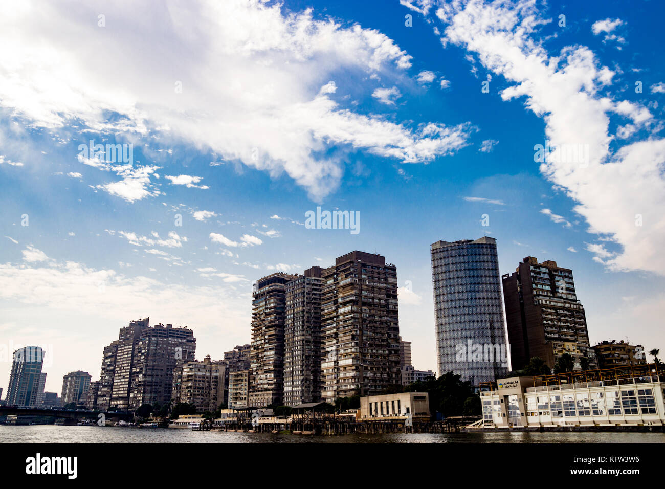 Bâtiments sur arrière-plan dans le Caire, Egypte Photo Stock