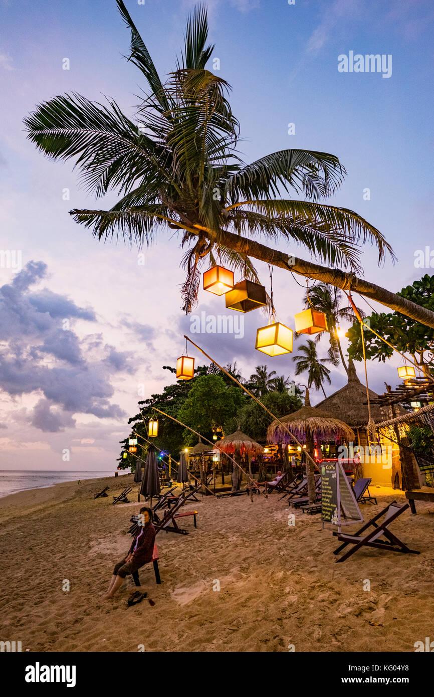 La Thaïlande. La mer d'Andaman. L'île de Koh Lanta. Klong Khong Beach Photo Stock