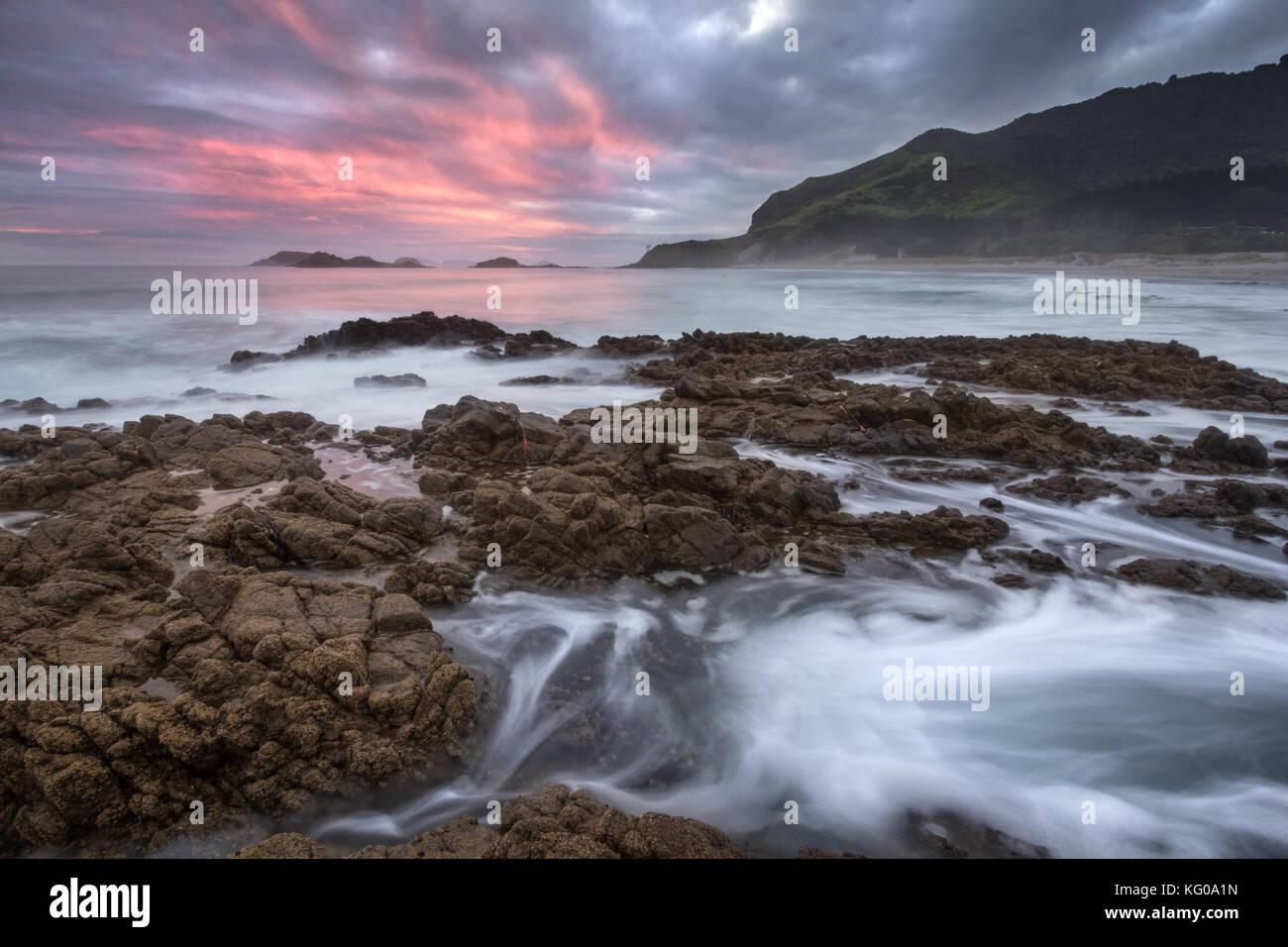 Océans plage près de whangarei, Nouvelle Zélande Photo Stock
