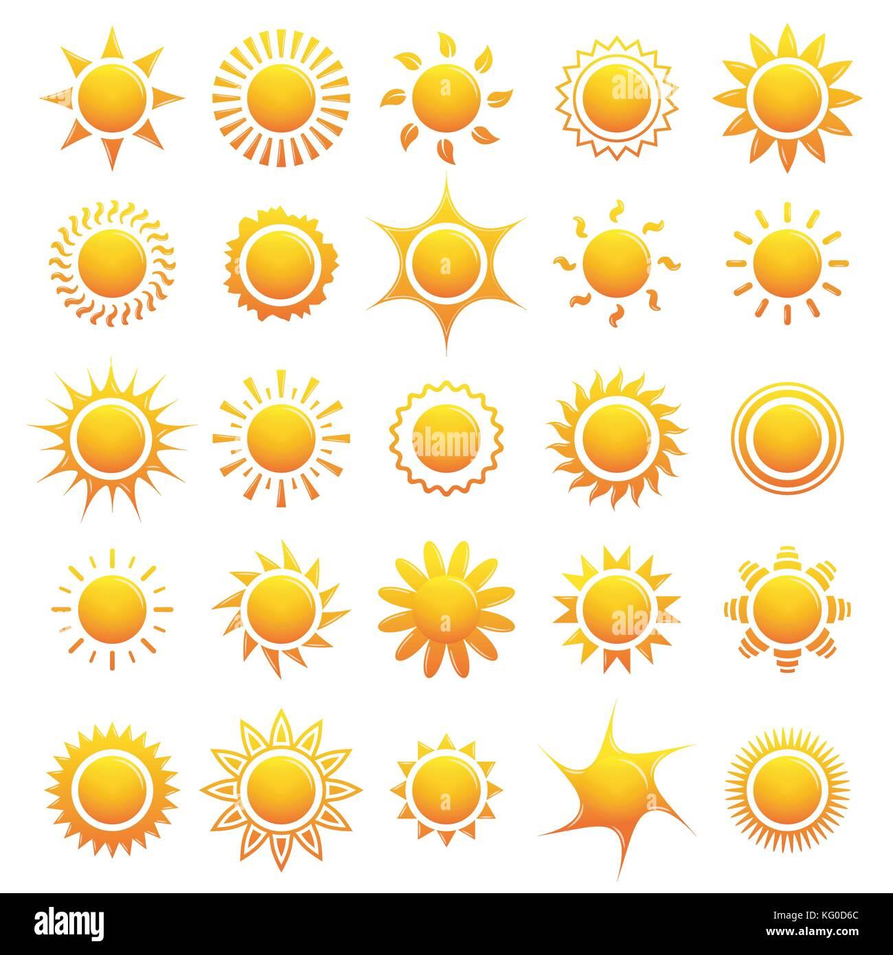 Ensemble d'icônes sun collection. vector illustration Illustration de Vecteur