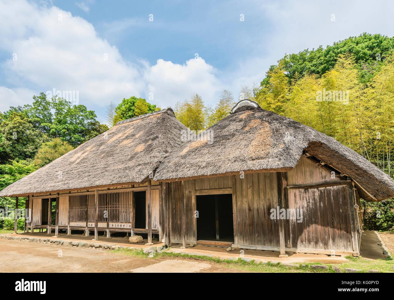 Employe Chez Sakuda Chambre A Nihon Minkaen Folk House Museum