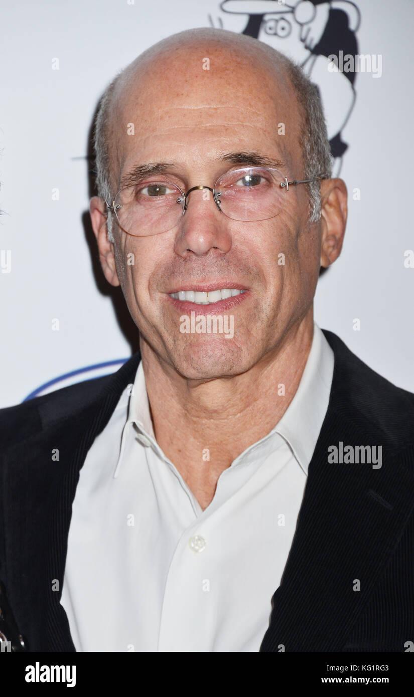 Los Angeles, Californie, USA. 09Th nov, 2017. Jeffrey Katzenberg 028 arrive pour la 6e conférence annuelle Photo Stock