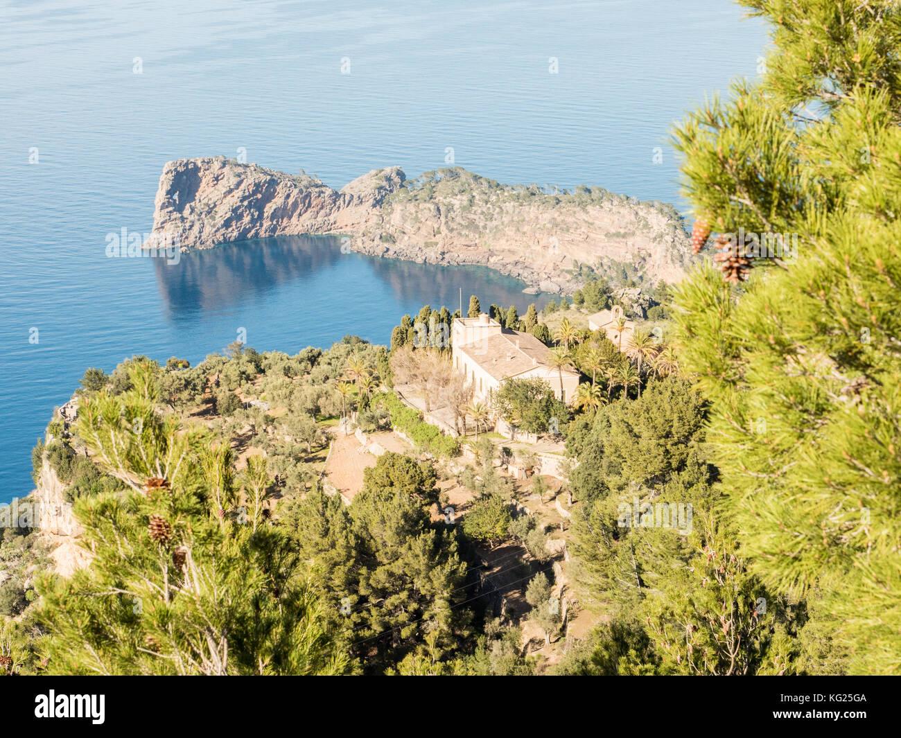 Littoral près de valdemossa, Majorque, Iles Baléares, Espagne, Méditerranée, Europe Photo Stock
