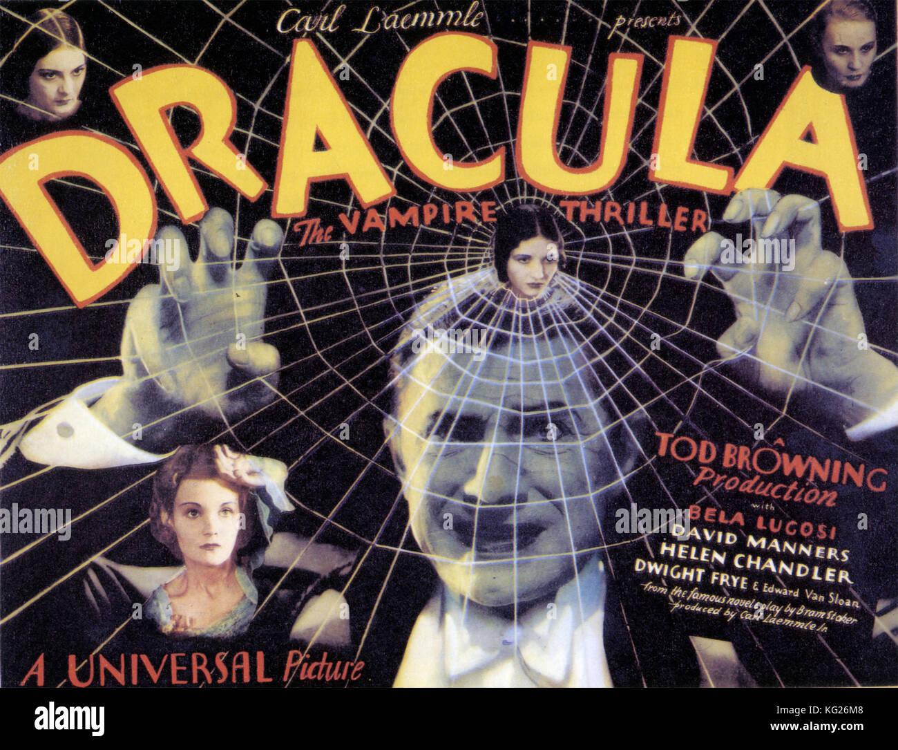 Dracula 1931 film universel avec Bela Lugosi Photo Stock