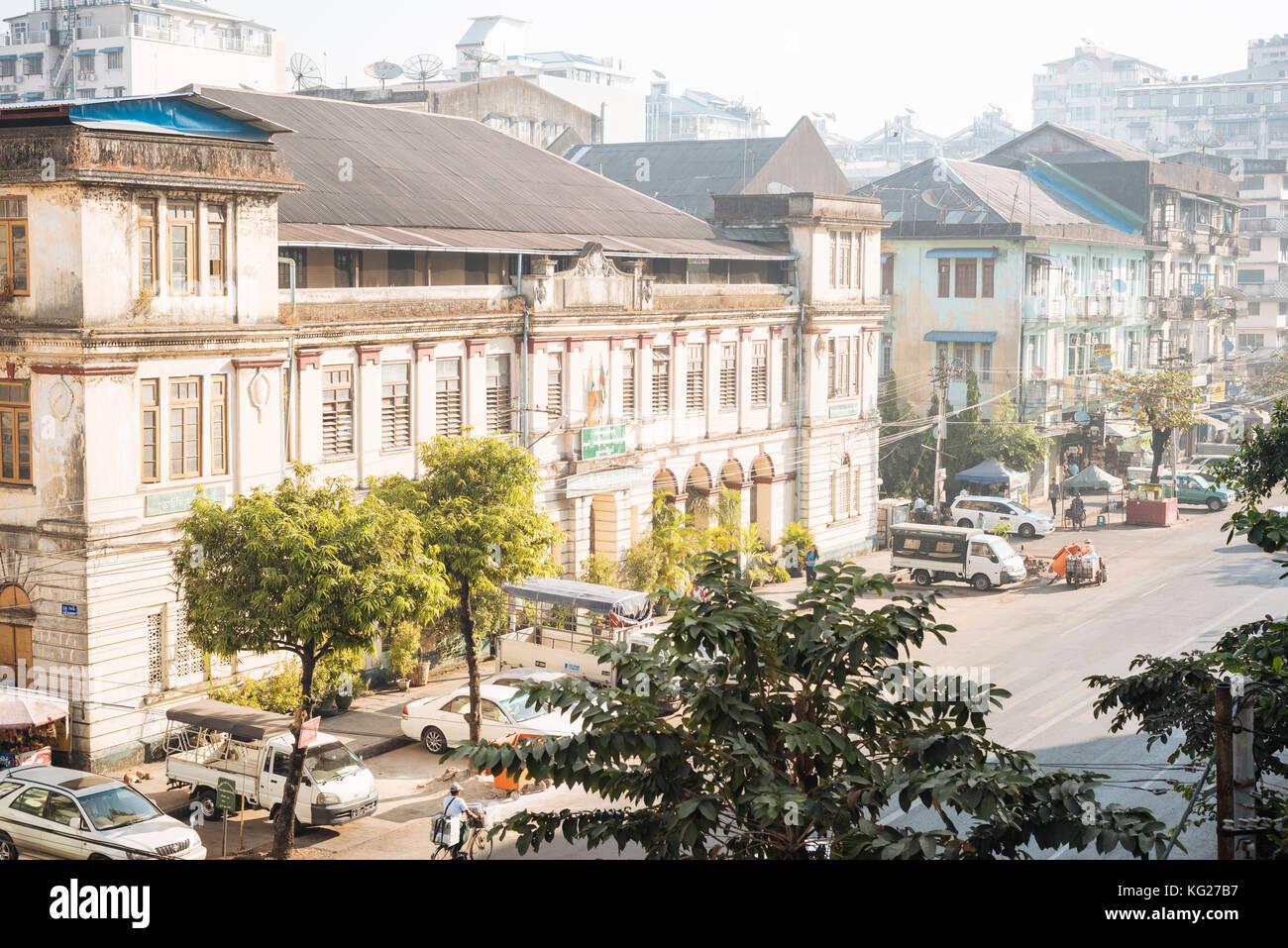 Yangon (Rangoon), le Myanmar (Birmanie), l'Asie Banque D'Images