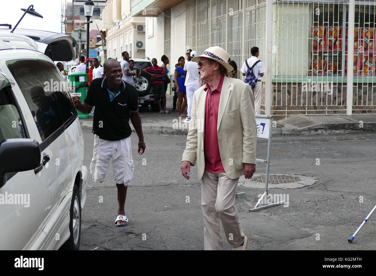 Pattes d'un commerçant du marché dans les Caraïbes Banque D'Images