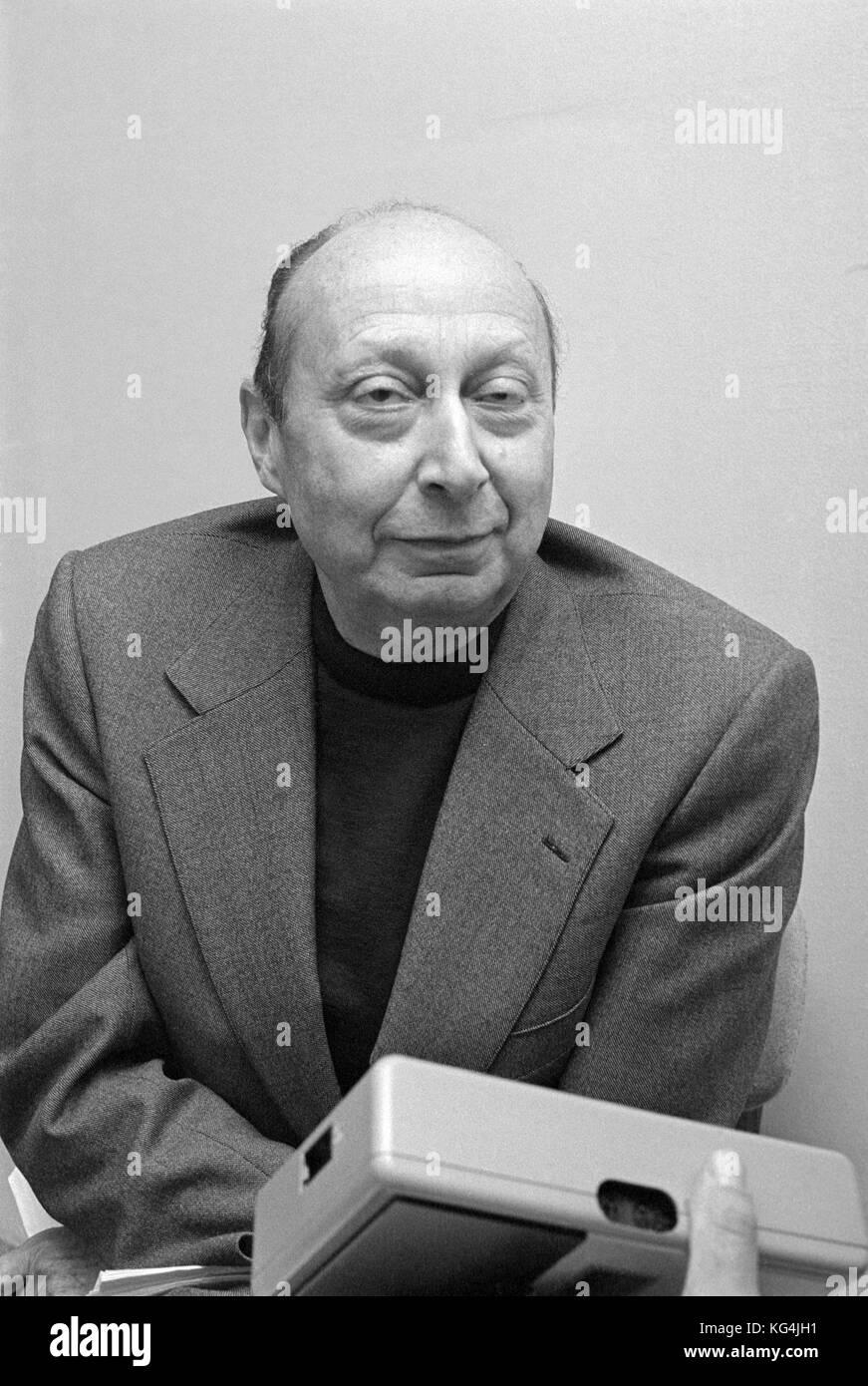 Charles bettelheim, économiste et historien français, fondateur de la 'centre pour l' étude Photo Stock