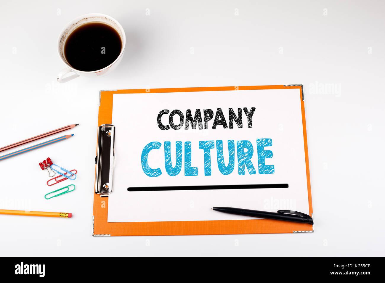 La culture d'entreprise, les antécédents en affaires. office 24 avec modèle Photo Stock