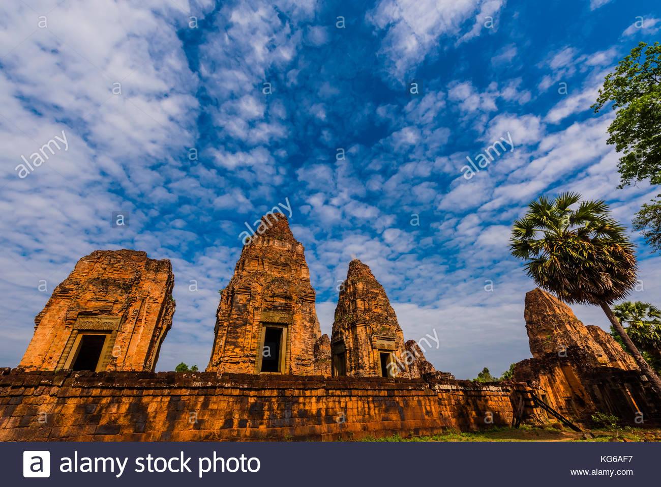 Pre Rup est un temple hindou à Angkor, Cambodge, construit comme le temple d'état de Rajendravarman Photo Stock