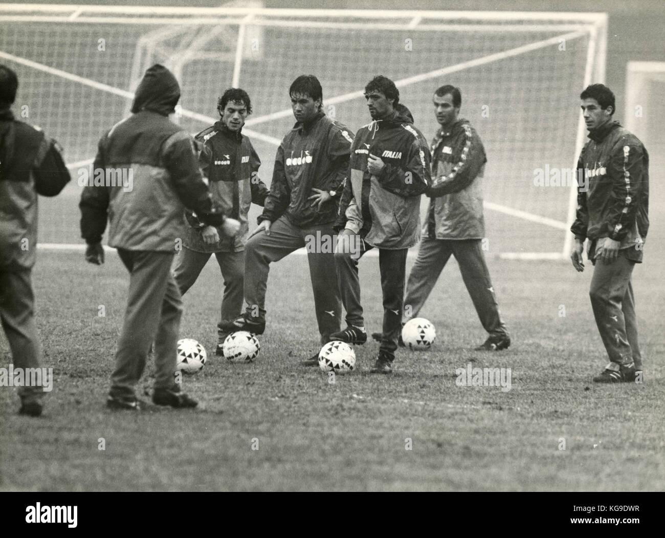 La formation de l'équipe nationale de football italienne 1980 Photo Stock