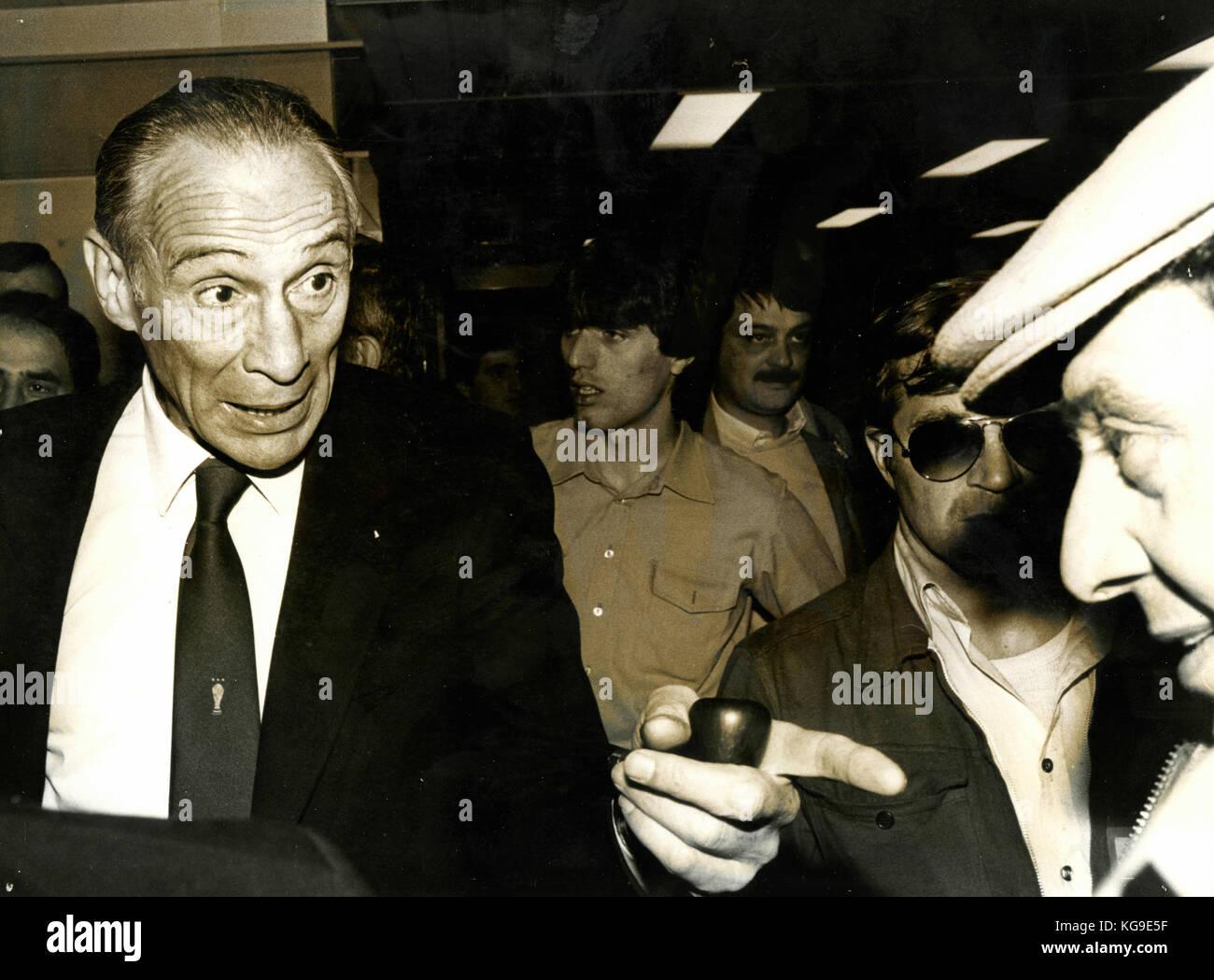 Enzo Bearzot, entraîneur de l'équipe nationale de football italienne 1980 Photo Stock