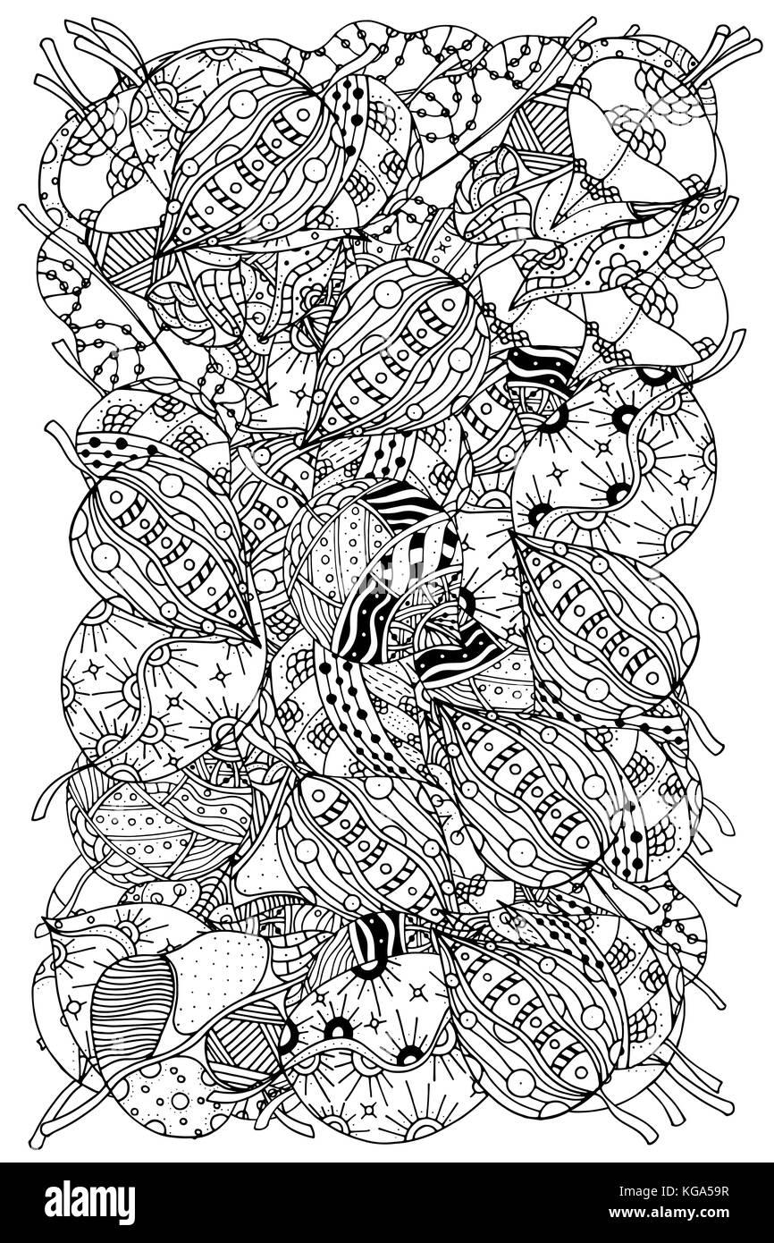 Coloriage Anti Stress Automne.Modele Pour Livre A Colorier Les Feuilles D Automne