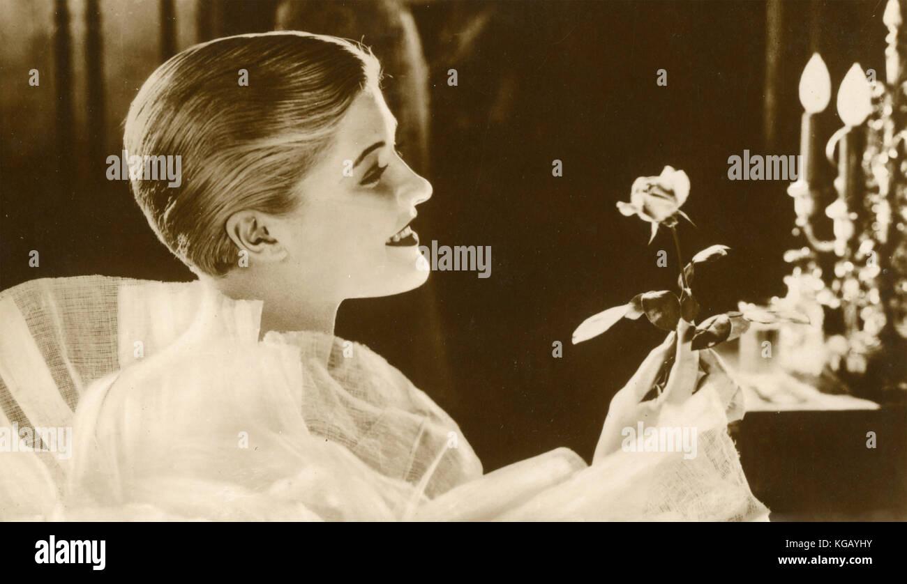 L'actrice Laura la plante dans le film muet Le Soleil de Minuit, 1926 Photo Stock
