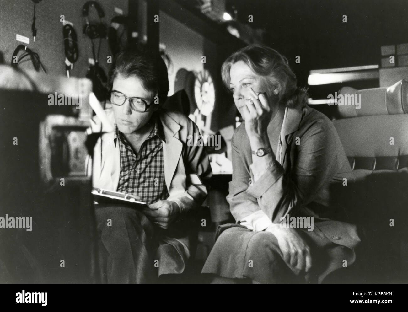 Acteurs Christopher Walken et Louise Fletcher dans le film remue-méninges, 1983 Photo Stock