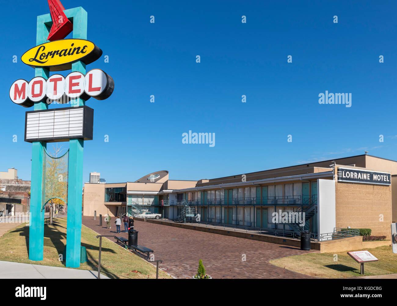 Le Musée National des Droits Civils au Lorraine Motel, à Memphis, Tennessee, États-Unis Banque D'Images