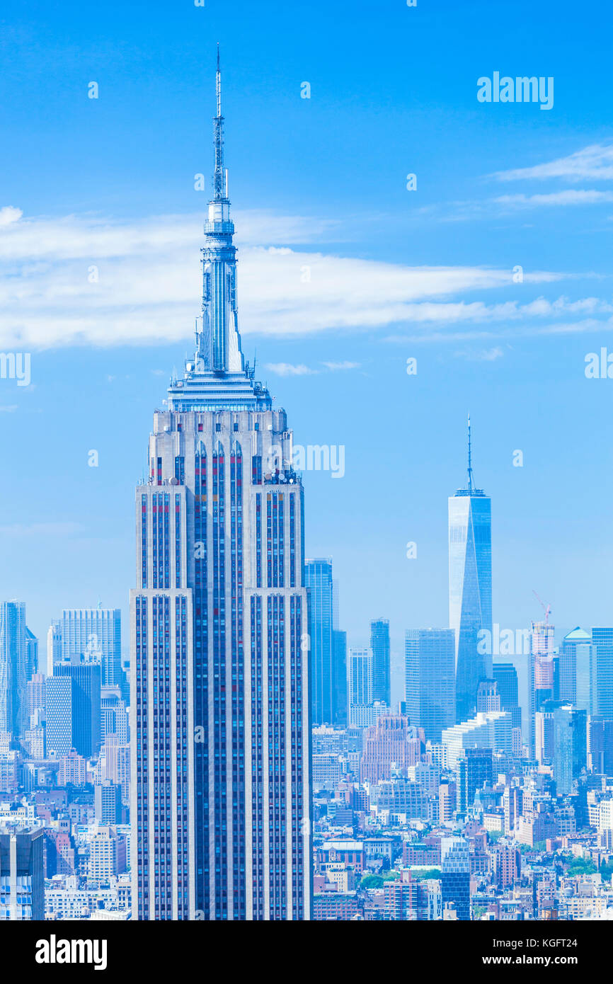 New York usa new york new york Manhattan skyline skyline empire state building Photo Stock