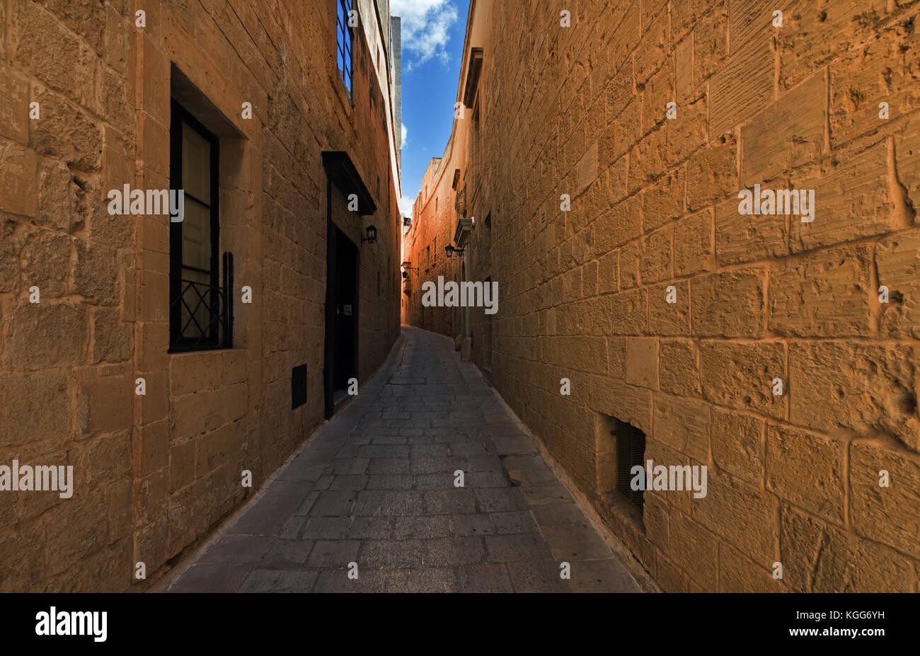 Rue de Mdina (Malte) Photo Stock