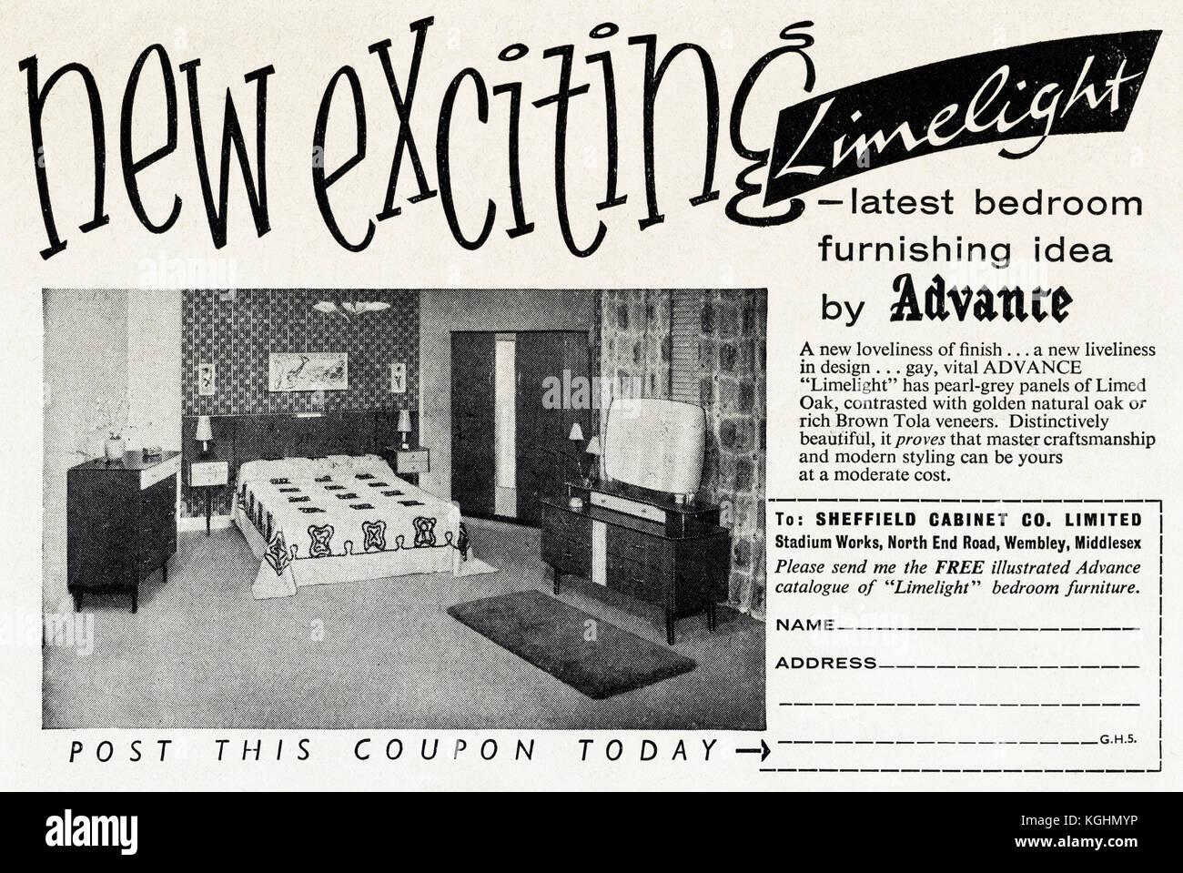 1950 Old Vintage Advert Original Magazine Anglais Imprimer Publicite