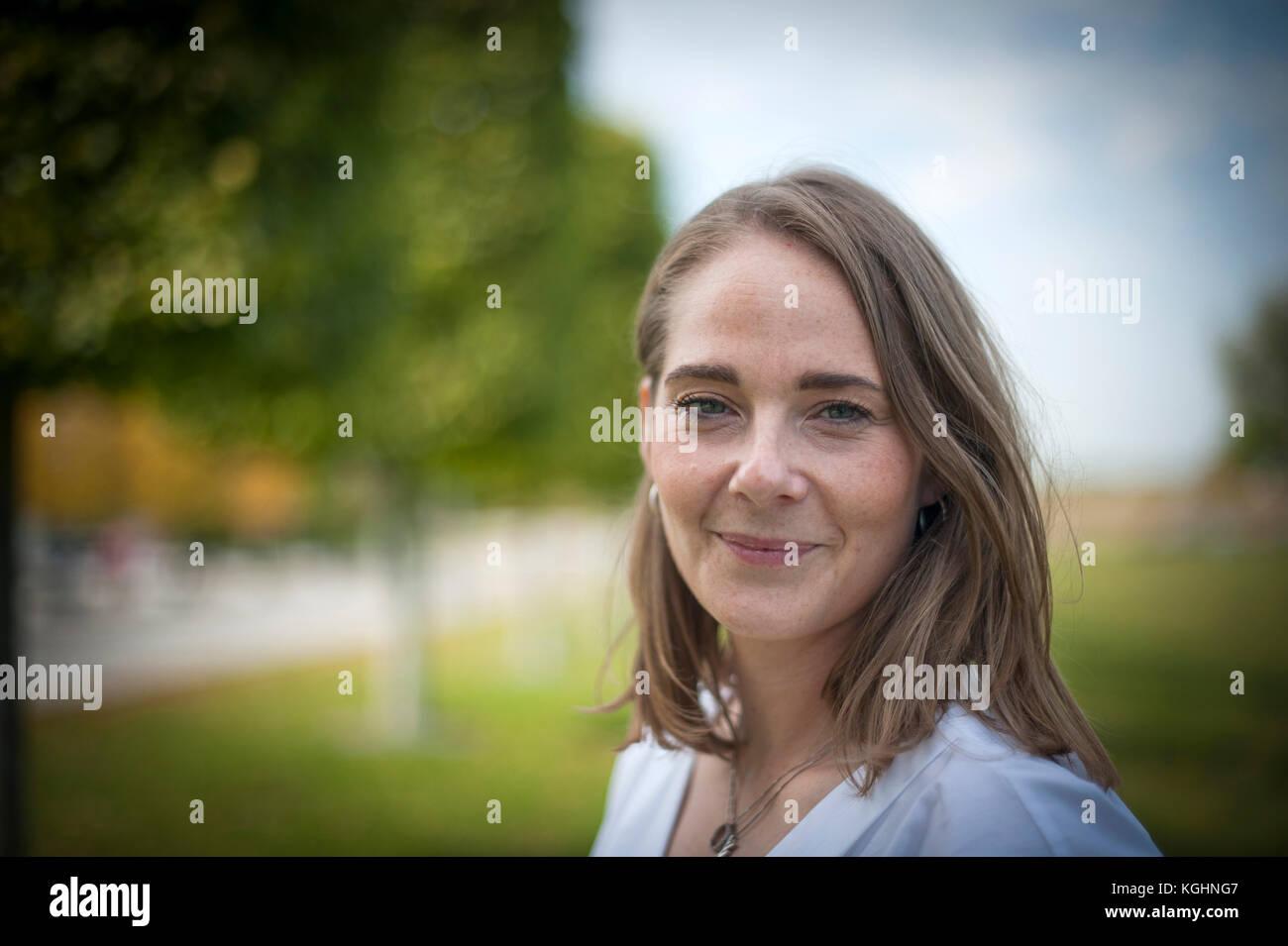 Anne Mette Høyer Chef de relations d'affaires pour SAP. Photographié à leurs bureaux à Walldorf, Bade-Wurtemberg, Allemagne. Banque D'Images