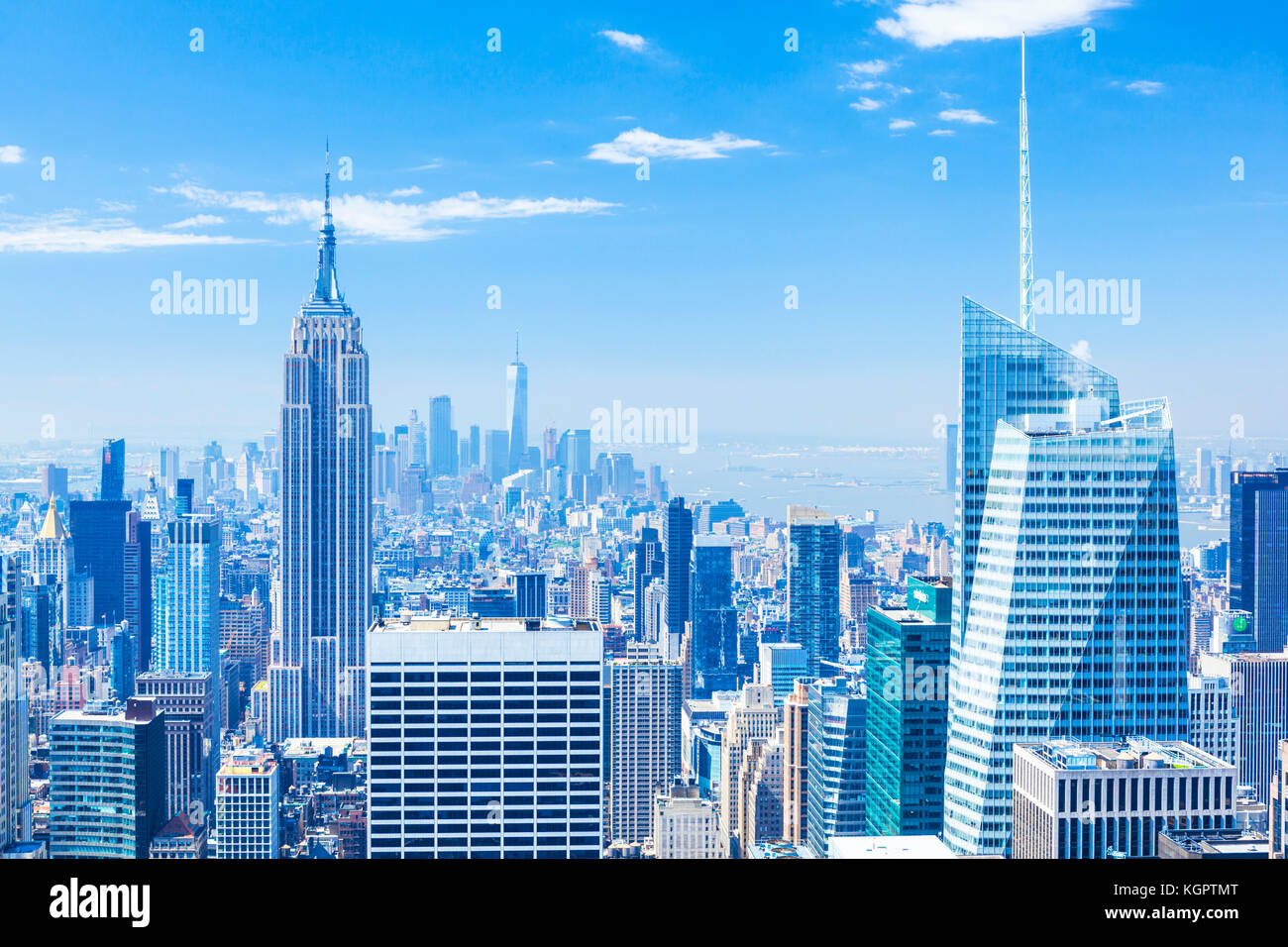 Manhattan skyline, New York Skyline, Empire State Building, New York City, États-Unis d'Amérique, Photo Stock