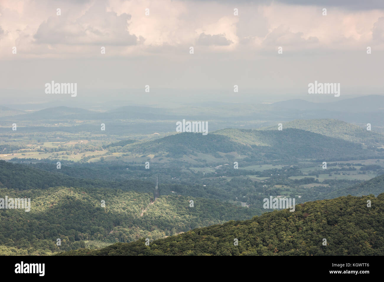 Parc national shennandoah Scenic Drive, usa Banque D'Images