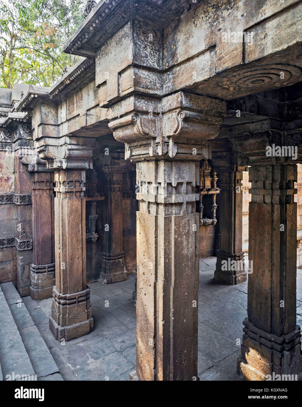 L'étape de harir dada bien, Ahmedabad, Gujarat, Inde, Asie Photo Stock