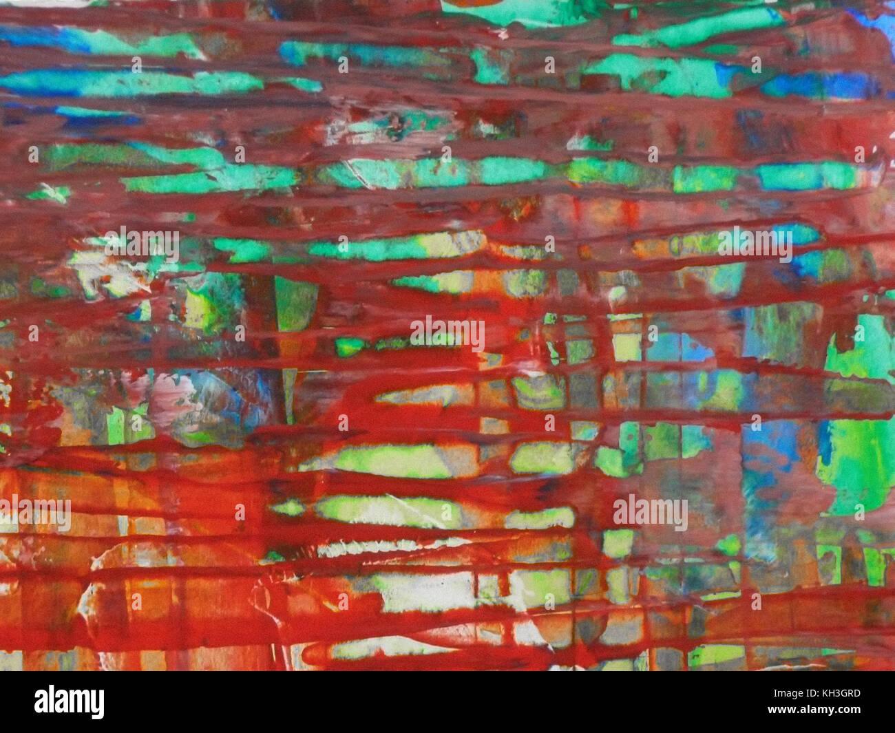 Fait Avec De La Peinture Acrylique Sur Carton Arts Abstrait Arrière