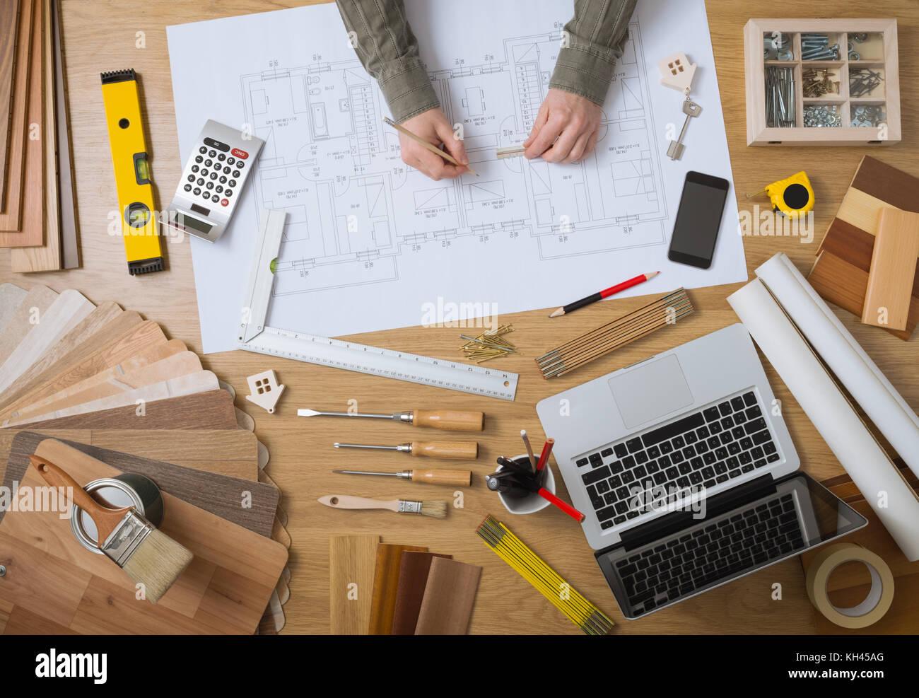 Ingénieur en b timent et architecte pour la chambre bureau avec