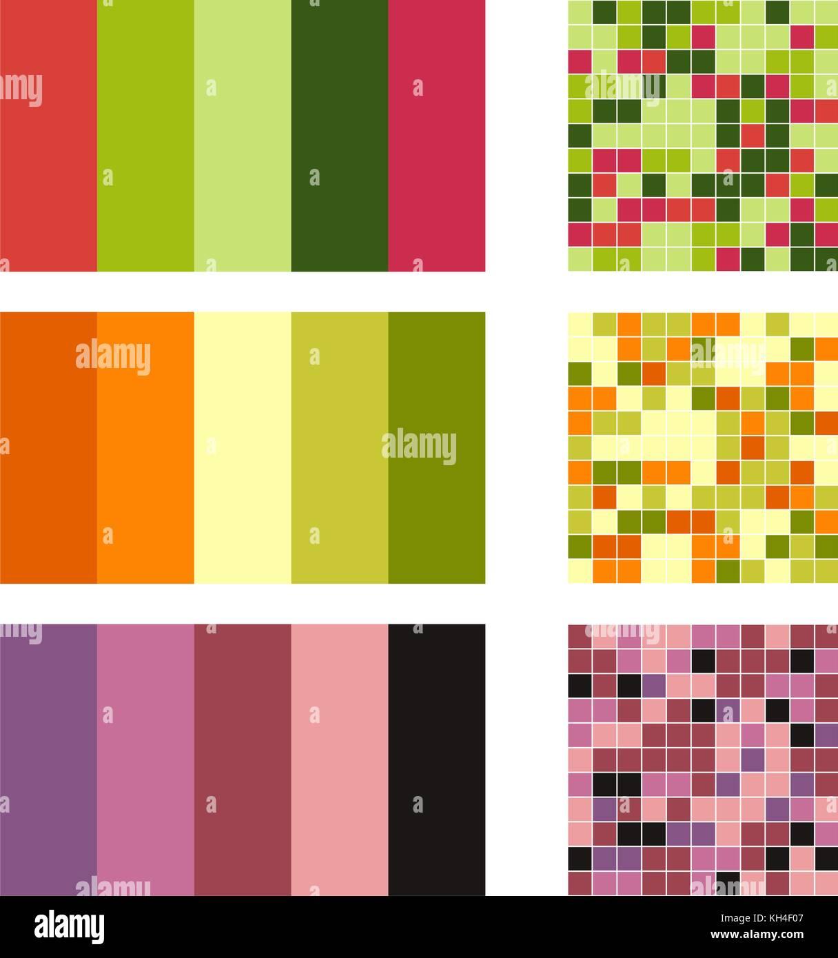 Palette De Couleurs Set Background Harmonie Combinaisons De